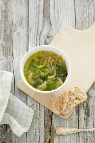 Onion and leek soup