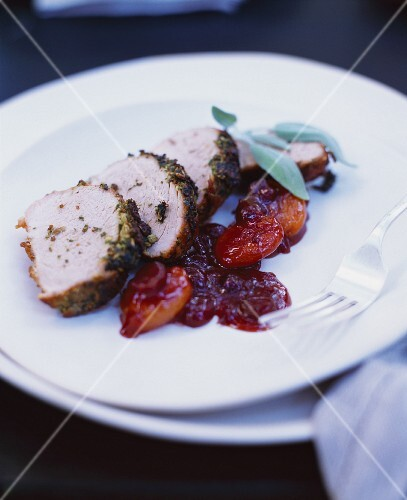 Free Range, Organic Pork Tenderloin with Dried Apricots, Orange and Ginger Sauce