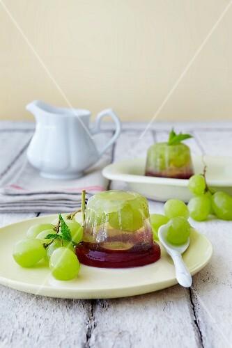 Layered grape jelly