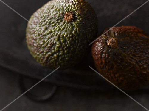 Two Avocados; Close Up