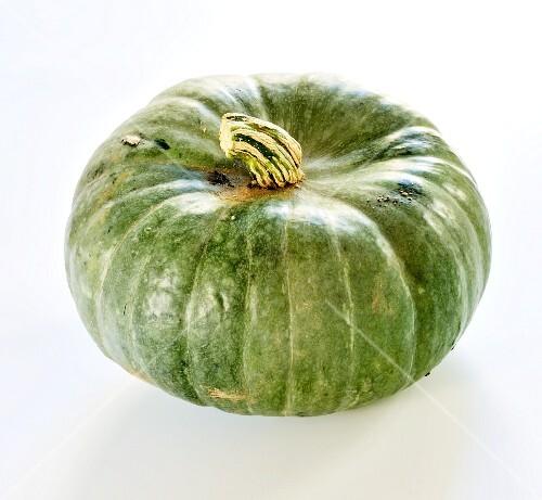A green pumpkin