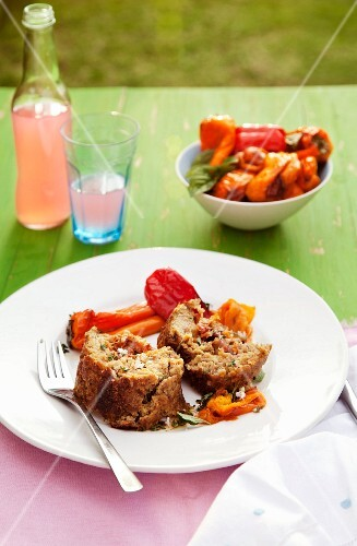 Meatloaf with roasted peppers