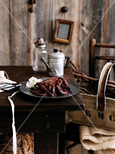 Whole, fried octopus