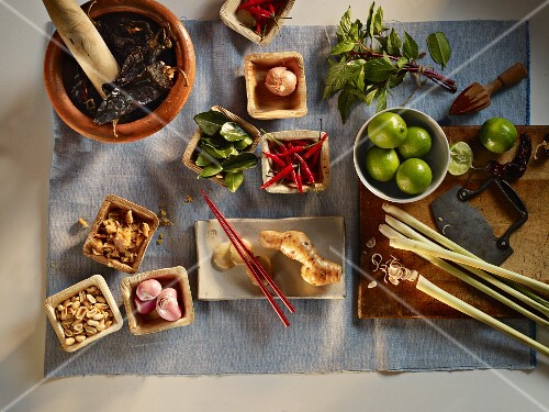 Ingredients for Thai dishes