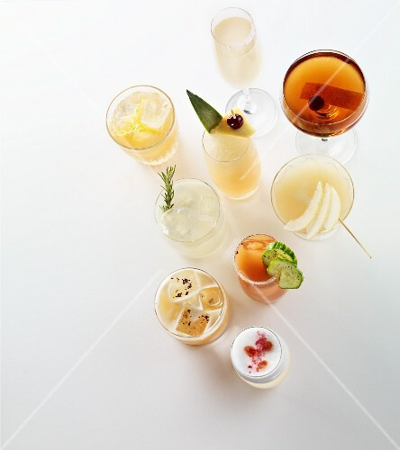 Various summer cocktails