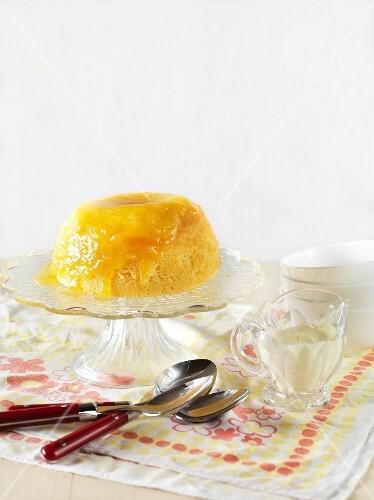 Juicy lemon pudding