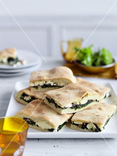 Erbazzone (bread filled with chard, spinach and ricotta, Italy)