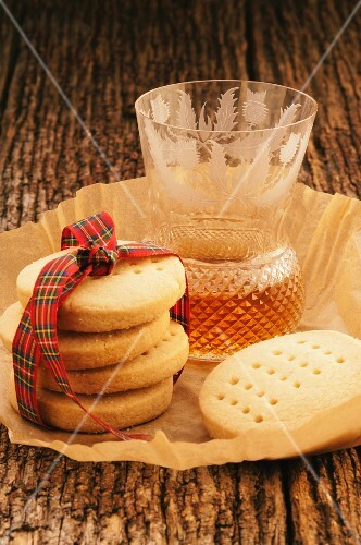 Shortbread tied with a ribbon