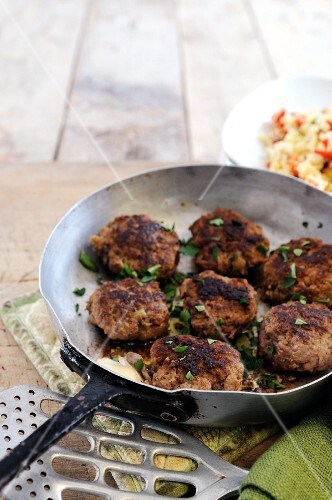 Beef and aubergine meatballs