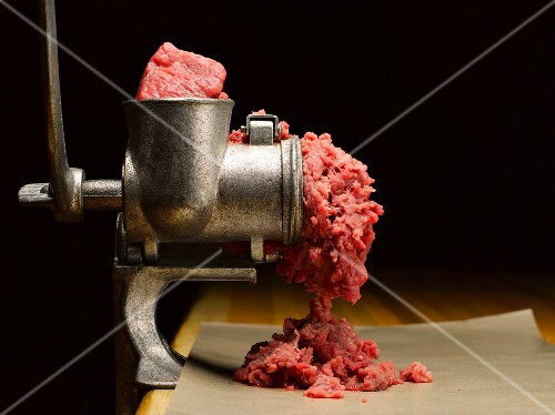 Beef in a Meat Grinder