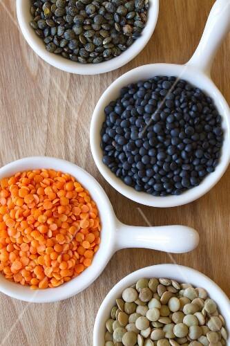 Four types of lentils