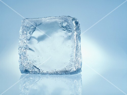 An ice cube (close-up)