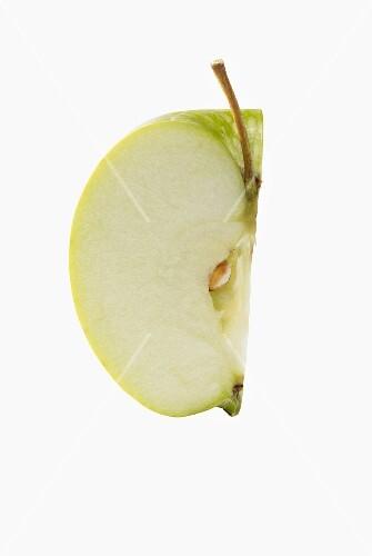 A quarter of an apple