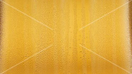 Condensation on a beer glass
