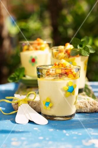 Passion fruit mousse (Caribbean)