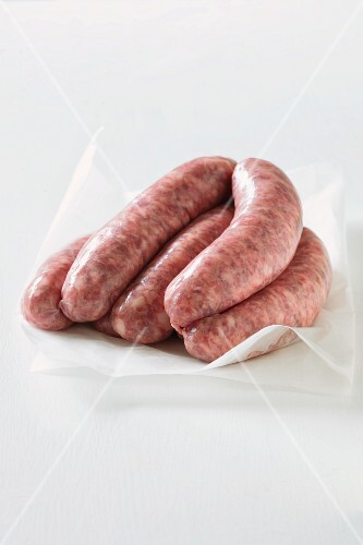 Sausages on paper