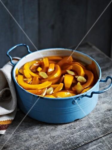 Preserved pumpkin in a pot