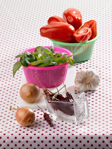 Ingredients for tomato ragout