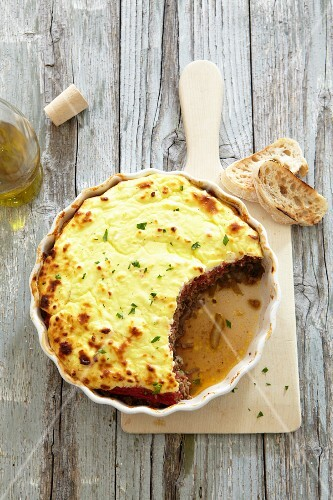 Moussaka in a dish