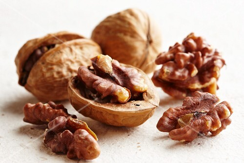 Walnuts in and Out of a Shell