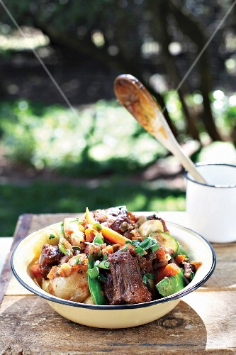Oxtail and vegetable stew