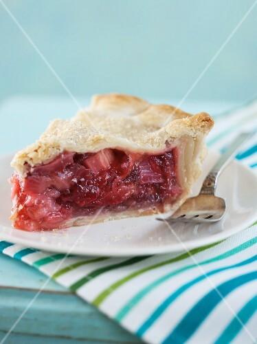 A Slice of Strawberry Rhubarb Pie