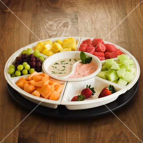 Fresh Fruit Platter with Dipping Saues