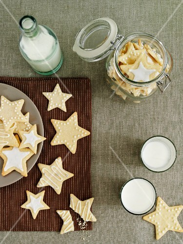 Lemon biscuits with icing sugar