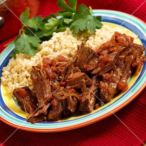Rinderschmorbraten mit Reis