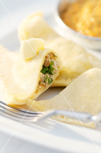 Romanian ravioli filled with meat