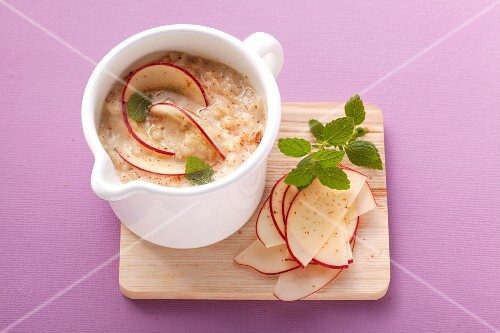 Rice and apple mush