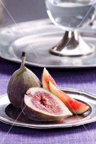 Figs on a silver plate