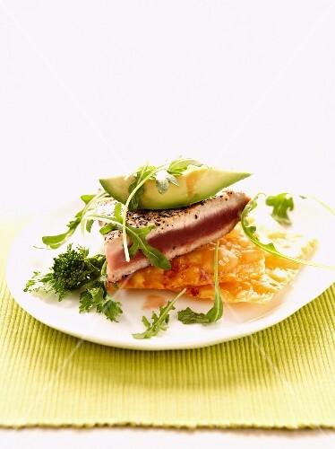 Ahi Tuna Salad with Avocado