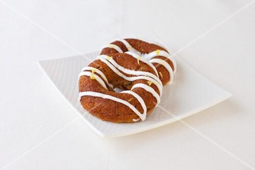 Vegan, Gluten Free Lemon Basil Baked Doughnuts with Basil Infused Lemon Glaze