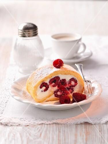 Raspberry Swiss roll