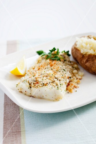 Baked Scrod with a Backed Potato