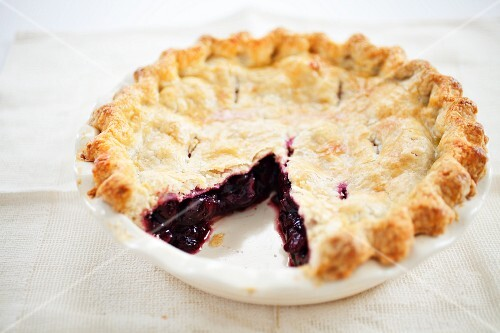 Cherry Pie with Slice Removed