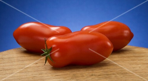 Three San Marzano tomatoes