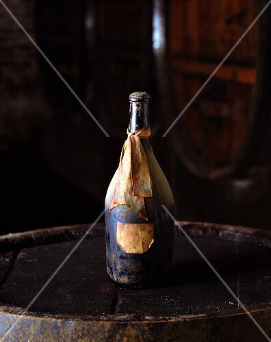 An antique wine bottle