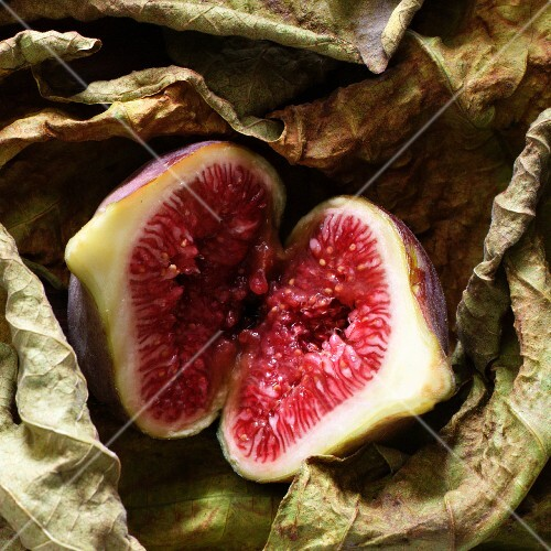 A halved fig