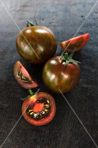 Kumato cherry tomatoes