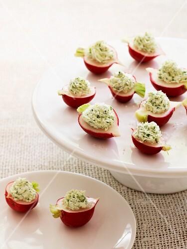 Stuffed radishes