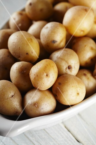 Mini potatoes boiled in their jackets