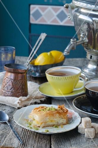 Baklava and tea (Turkey)