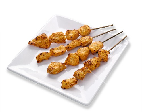 Spicy piri-piri chicken kebabs