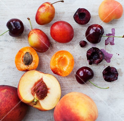 Summer fruits (peaches, cherries, plums, apricots)