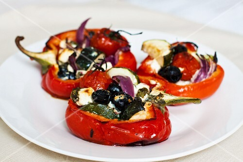 Peppers filled with vegetables