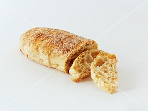 Ciabatta, sliced