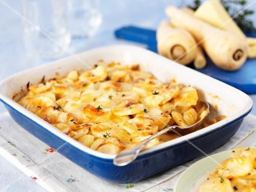 Potato bake with parsnips