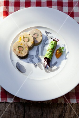 Venison terrine with a side of vegetables